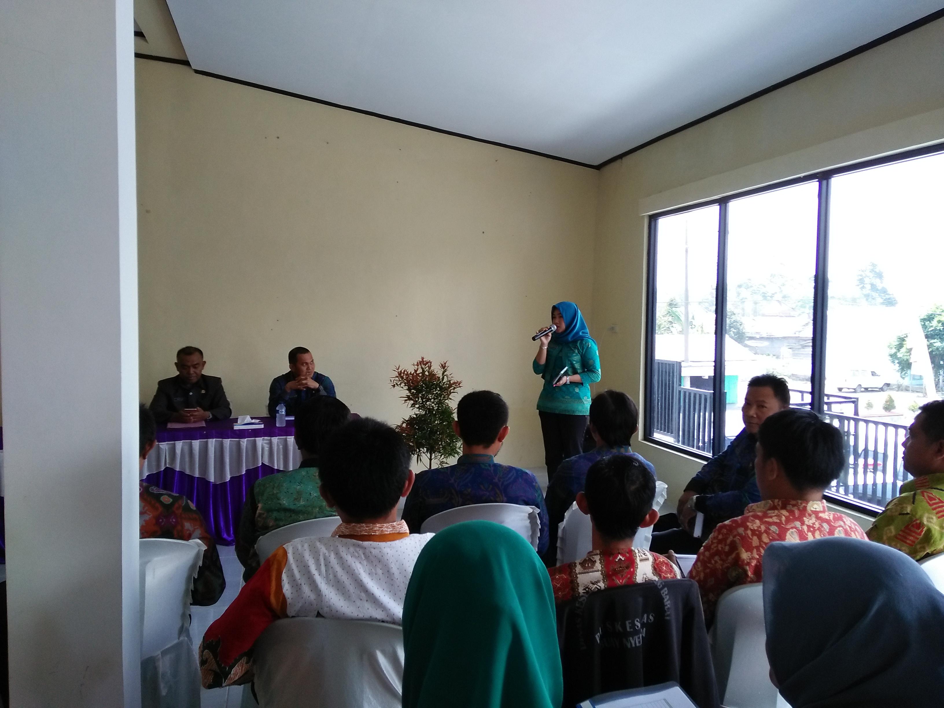 Pertemuan Evaluasi Bantuan Operasional Kesehatan Lampung Barat Semester I tahun 2017
