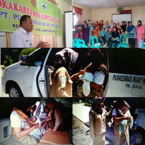 ANJELIN antar jemput ibu bersalin Program inovasi Puskesmas Buay Nyerupa