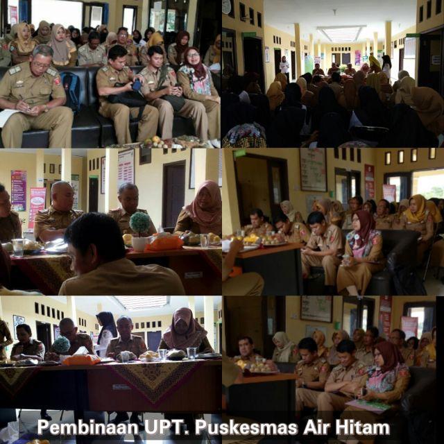 Pembinaan Rutin Puskesmas Air Hitam Oleh Dinas Kesehatan Kabupaten Lampung Barat.